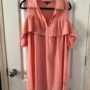 Peach Ruffle Dress